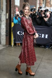 Ellie Thumann - Arrives at the Coach Fashion Show 2020 in New York