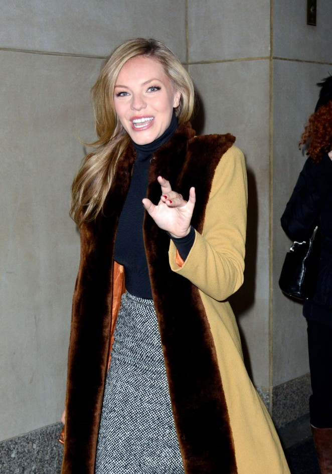 Eloise Mumford - Leaving the Today Show in New York City