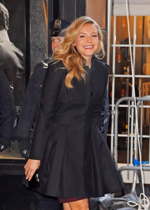Eloise Mumford - Leaving the Ziegfeld Theater in New York City