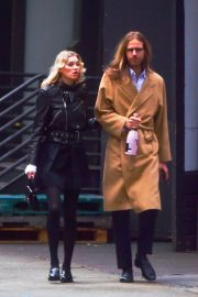 Elsa Hosk and boyfriend Tom Daly on a walk in Soho