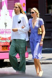 Elsa Hosk and boyfriend Tom Daly out in New York