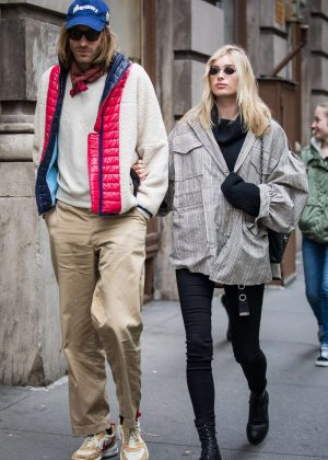Elsa Hosk and Boyfriend Tom Daly out in NY