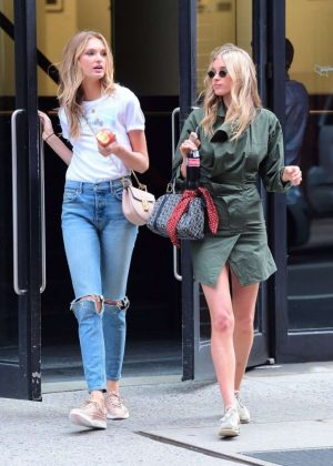Elsa Hosk and Romee Strijd Out in New York