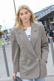 Elsa Hosk - Arrives at Nice Airport in France