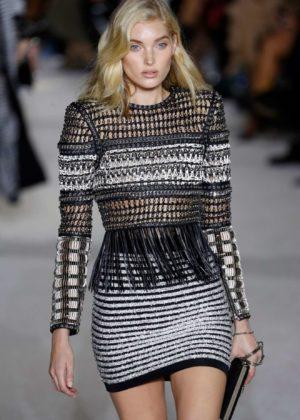 Elsa Hosk - Balmain show at Paris Fashion Week