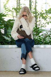 Elsa Hosk carries Fendi bag in Venice