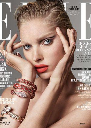 Elsa Hosk for ELLE US Cover (May 2017)