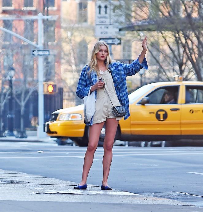 Elsa Hosk in Short Shorts -04