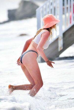 Elsa Hosk - In a bikini on the Beach at Santa Monica