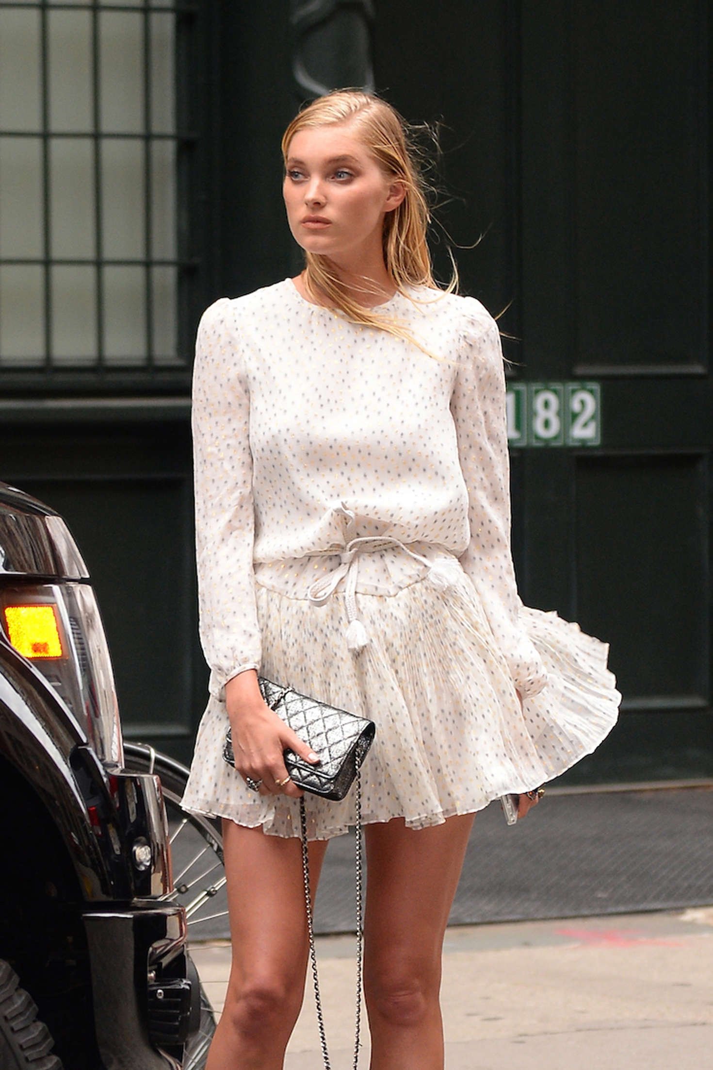 Elsa Hosk In Short Dress Out In Tribeca Gotceleb