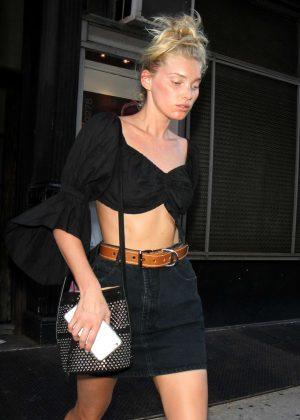 Elsa Hosk in Short Skirt out in New York