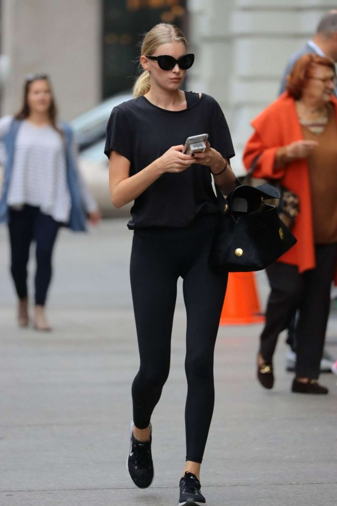 Elsa Hosk in Spandex Out in New York