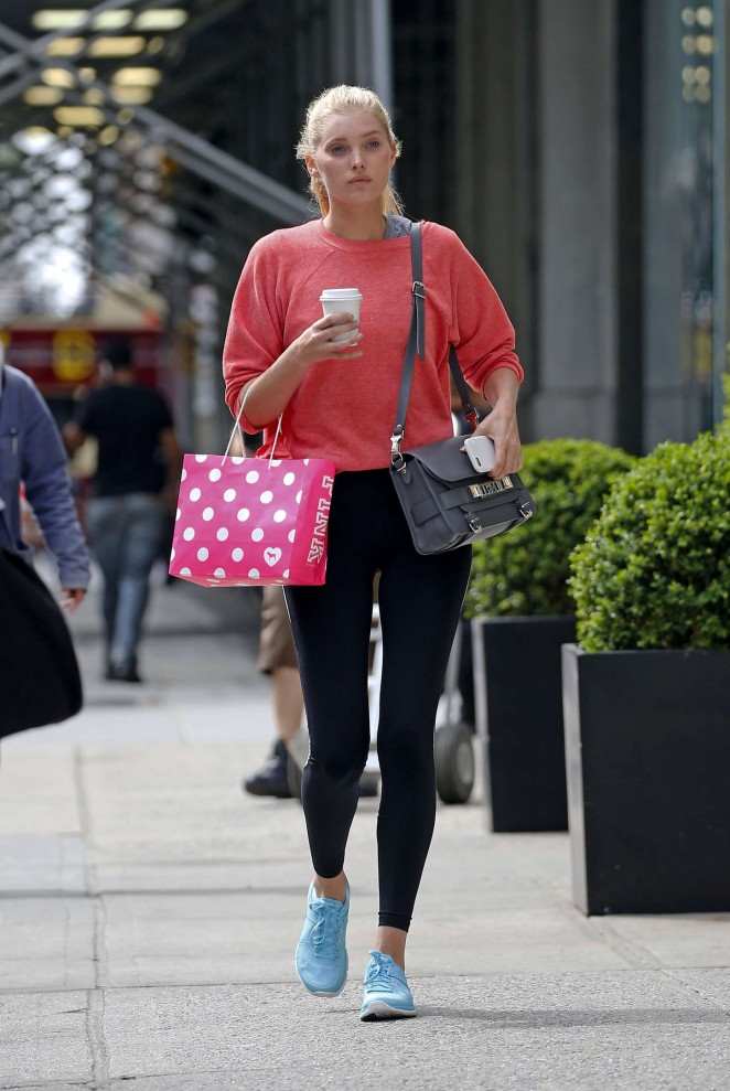 Elsa Hosk in Tight Leggings out in NYC