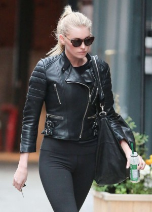 Elsa Hosk in Tights out in New York City