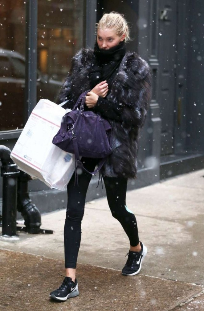 Elsa Hosk in Tights out in NYC