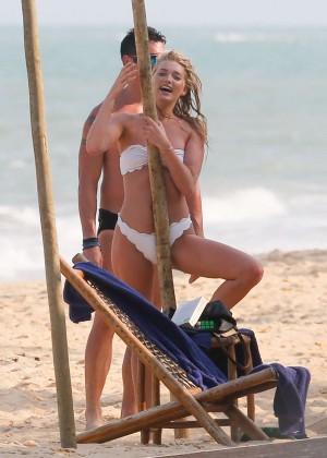 Elsa Hosk in White Bikini -12