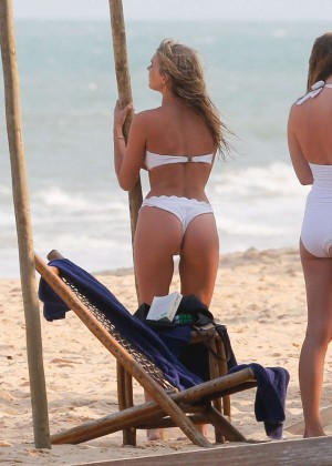 Elsa Hosk in White Bikini -14