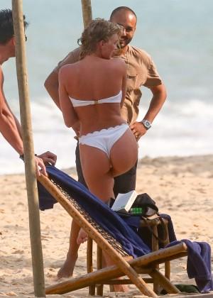 Elsa Hosk in White Bikini -18