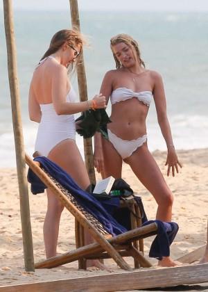 Elsa Hosk in White Bikini -19