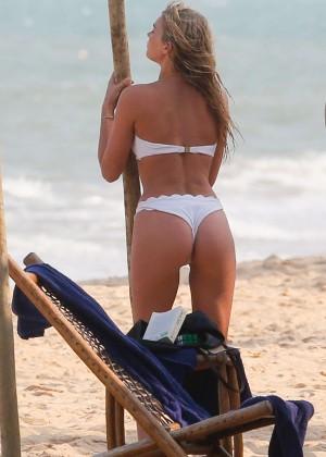 Elsa Hosk in White Bikini -30
