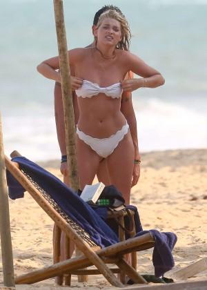Elsa Hosk in White Bikini -44