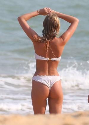 Elsa Hosk in White Bikini -48