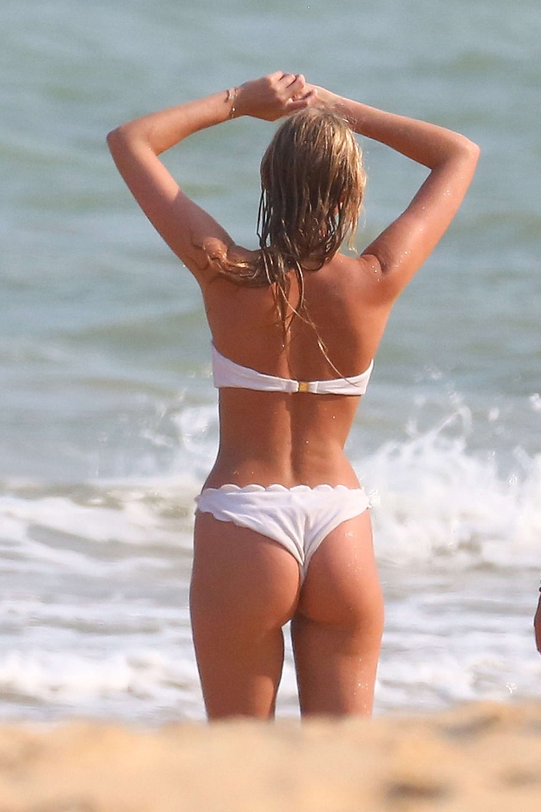 Elsa Hosk in White Bikini -48 - GotCeleb