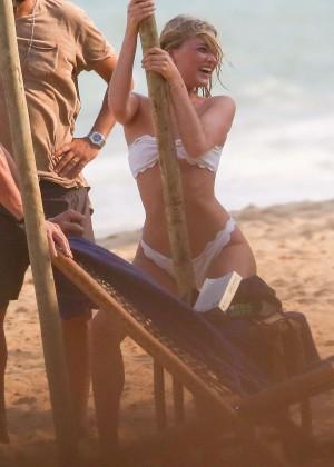 Elsa Hosk in White Bikini -54