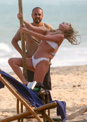 Elsa Hosk in White Bikini -58