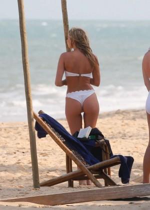 Elsa Hosk in White Bikini -59