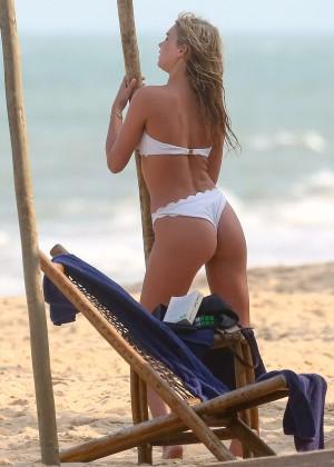 Elsa Hosk in White Bikini -65