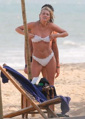 Elsa Hosk in White Bikini -69