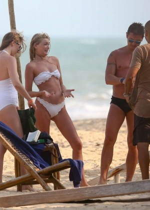 Elsa Hosk in White Bikini -82