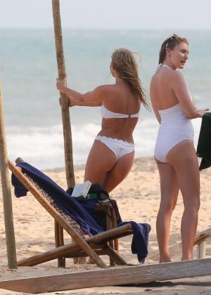 Elsa Hosk in White Bikini -87