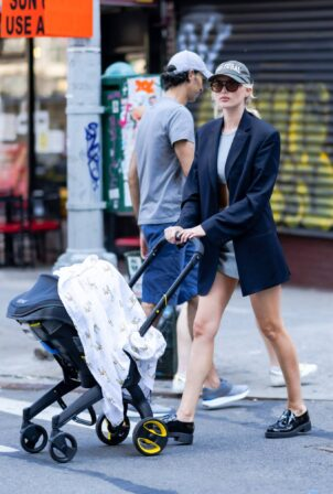 Elsa Hosk - Is pictured out on a stroll in New York