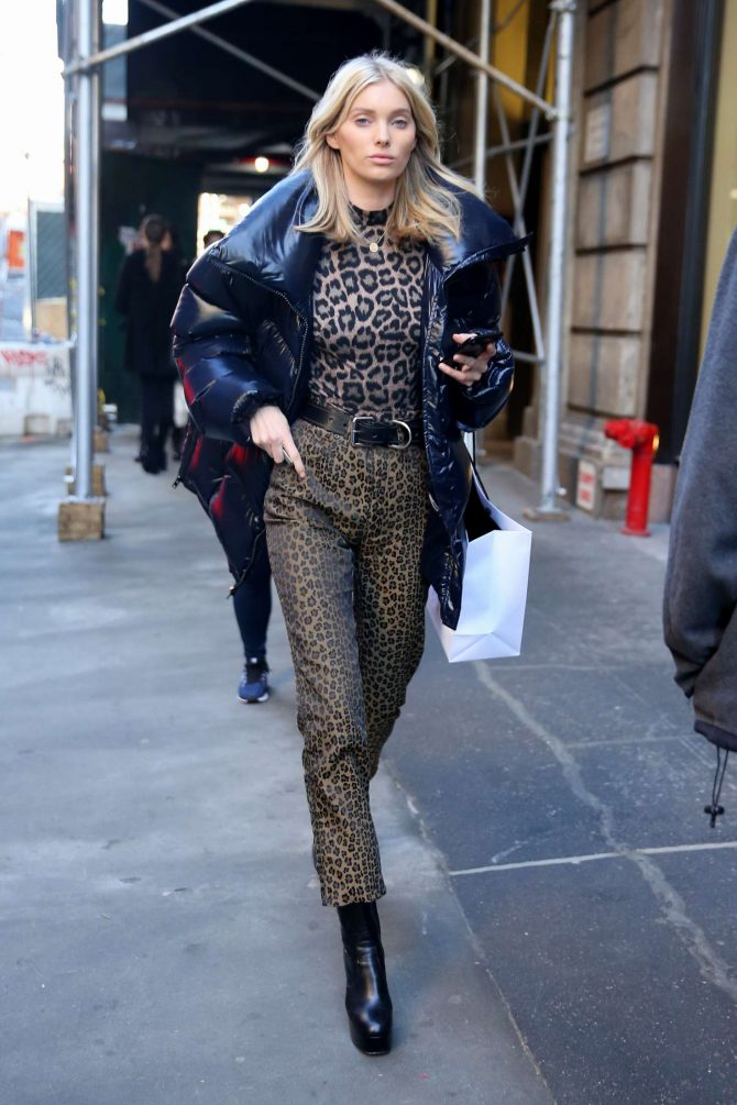 Elsa Hosk – Leaves fittings at Marc Jacobs during New York Fashion Week in NYC