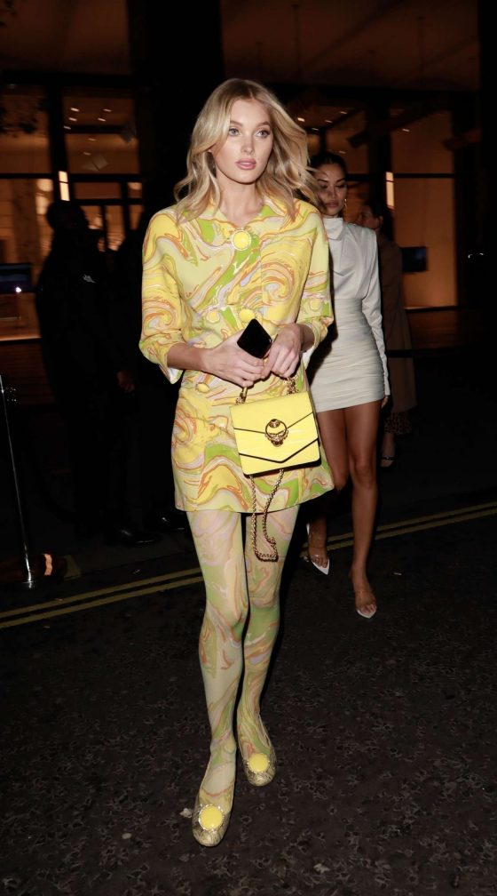 Elsa Hosk - Leaves Pat McGrath: A Technicolour Odyssey Launch Party in London
