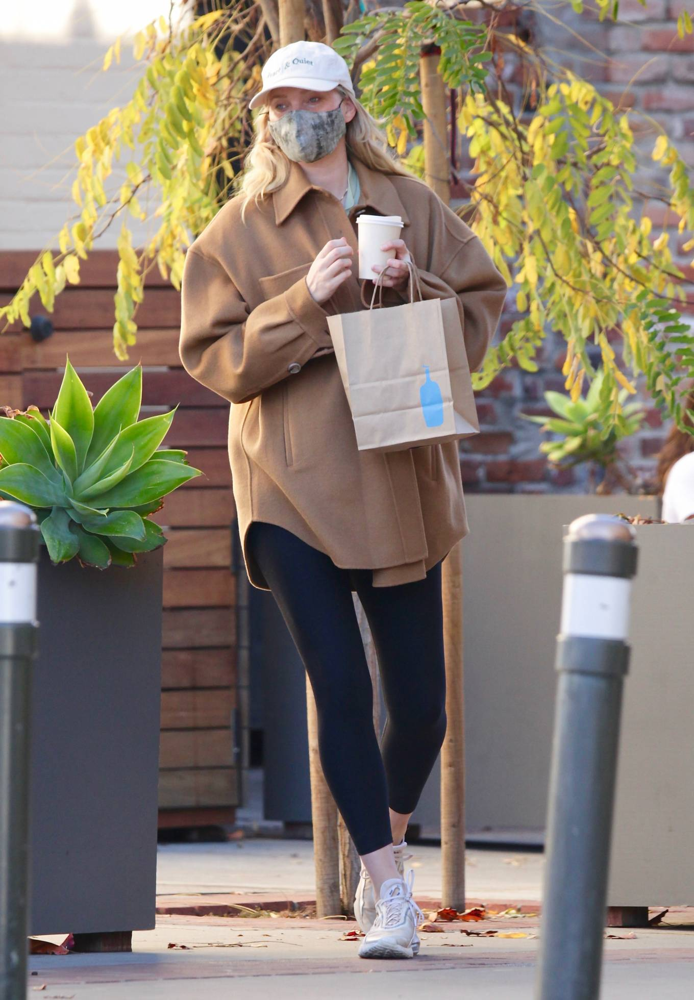 Elsa Hosk - Leaving Blue Bottle coffee in Studio City