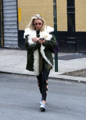 Elsa Hosk - Leaving the gym in New York City
