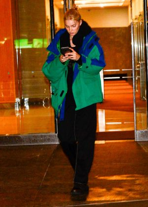 Elsa Hosk - Leaving the Victoria Secret office in New York