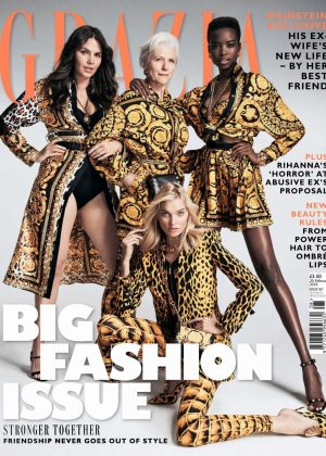Elsa Hosk, Maria Borges, Maye Musk and Candice Huffine - Grazia UK (February 2018)