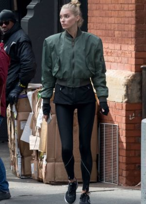 Elsa Hosk out and about in New York City