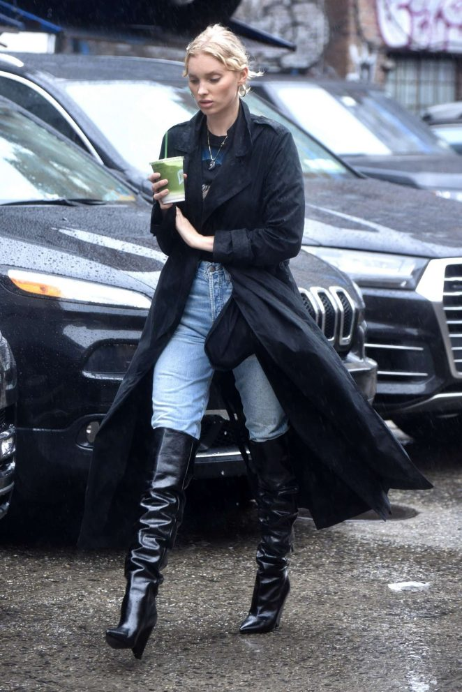 Elsa Hosk - Out and about in New York