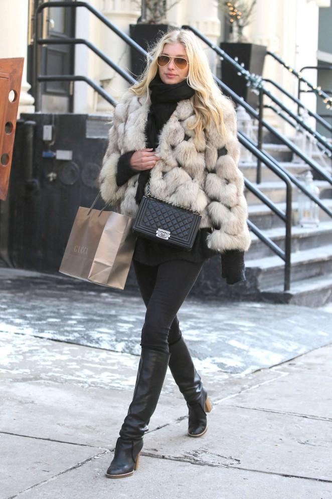 Elsa Hosk In Fur Coat 08 Gotceleb