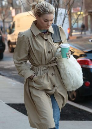 Elsa Hosk - Out and about in Tribeca New York