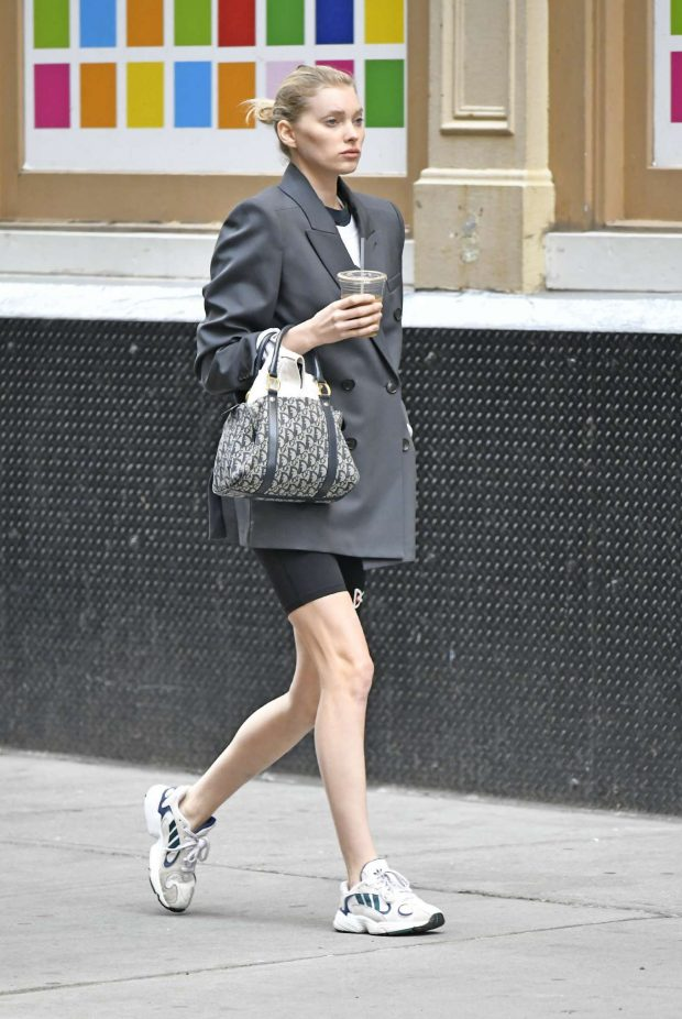 Elsa Hosk: Out for coffee in NYC -01