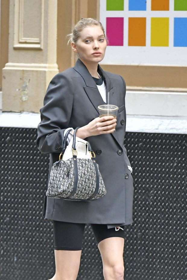 Elsa Hosk: Out for coffee in NYC -07