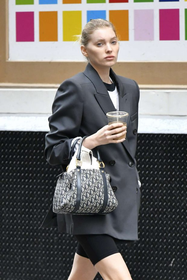 Elsa Hosk - Out for coffee in NYC