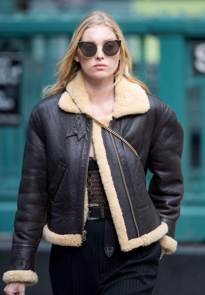Elsa Hosk out Shopping in Soho