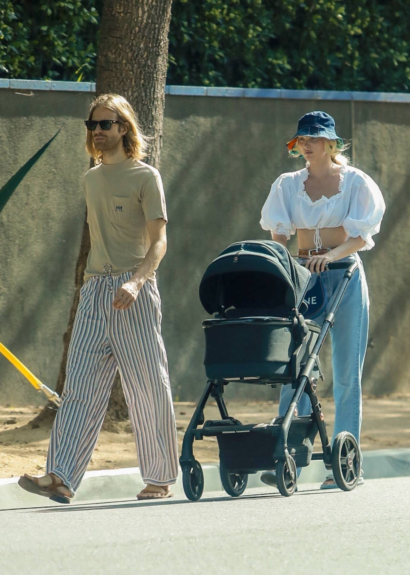 Elsa Hosk - Out with her family near her Pasadena home